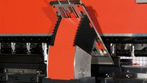 HFE II Series press brake sheet follower up position